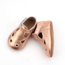 Nuove scarpe eleganti in pelle con glitter per bambini