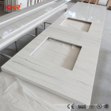 Prefab Synthetic Stone Solid Surface Quartz Stone Kitchen Countertops Vanity Top Solid Surface