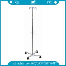 AG-SS009A Krankenhaus Infusion Zimmer verwendet Edelstahl Höhe einstellen iv-Ständer