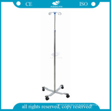 AG-SS009A Hospital infusion room used stainless steel height adjust iv pole stand