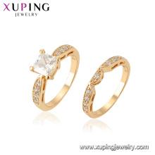 15441 Xuping Jóias Atacado Novo Design Ring Set com anel de ouro 18k