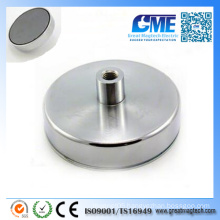 N42 D125X50mmxm14 Hole Neodymium Pot Permanent Magnet