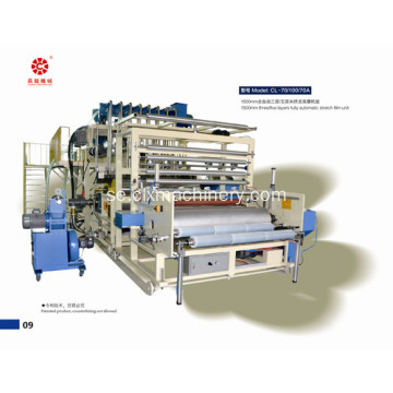 Fem lager plastfilm Wrapping Machine
