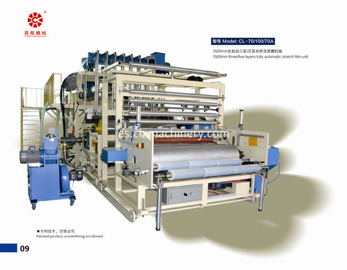high speed winding stretch film machine