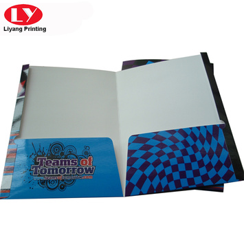 Glossy Colorful document paper folder printing