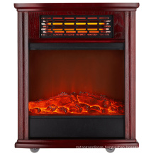 IF-1505A free standing type Wooden cabinet quartz tube real log flame effect room heater
