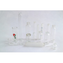 Четкие и янтаря косметических стеклянная бутылка флакона на нейтральных стеклянная трубка