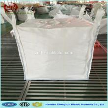 Bolso enorme tejido PP del polipropileno del 100% y fábrica del precio en el bolso grande de Hebei con el fondo del canalón