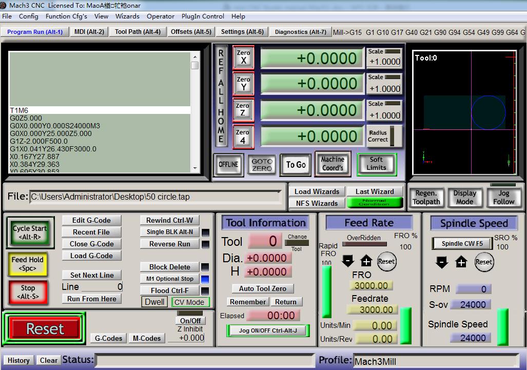 CNC router Mach 3
