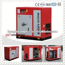 Preço de 8bar 7.5kw do compressor de ar do compressor do parafuso com motor de gasolina