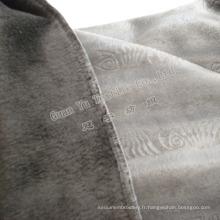 Velours de polyester bronzage Suede canapé tissu d'ameublement