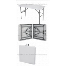 Mesa plegable de plástico blanco con marco de metal (SP-GT382)