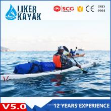 Hochwertiger Einzelsitz Plastic Hull Sea Rowing Kayak zum Verkauf