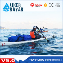 Top Quality Single Seat Plastic Hull Sea Rowing Kayak for Sale