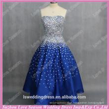RP0087 real customizável enfeites de cetim revestidos de cristal com iniciais vestidos azuis princesa saia vestido de baile imagens reais