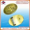 Старая золотая литая пряжка из золота с золотым овалом Пряжка из металлического металла