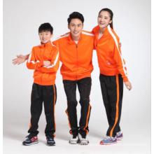 Agasalho de manga longa em branco desgaste esportivo para criança e adulto