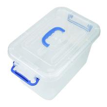 Caja de almacenamiento de plástico multifuncional de cristal con mango (SLSN047)