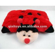 мягкий stufffed красный Божья коровка плюшевые игрушки подушка