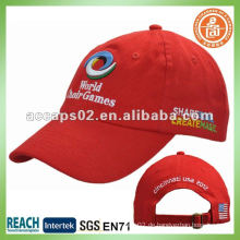Stickerei Plain Red Baseball Caps BC-0133