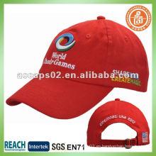 Bordado liso rojo béisboles BC-0133