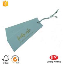Impresión personalizada de la etiqueta colgante del oscilación del papel