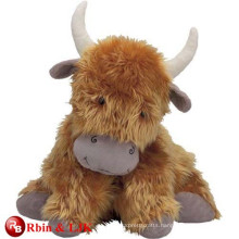 customized OEM design highland cow soft toy