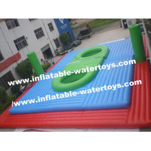 Cheap Price 0.55mm Pvc Tarpaulin Colorful Inflatable Sport Court For Inflatable Sports Games