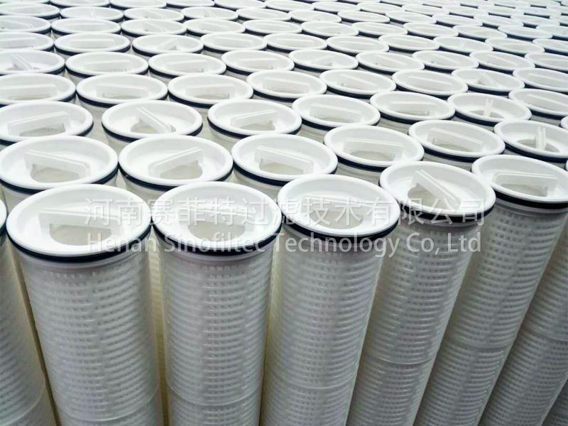 Large flow rate water filter cartridges
