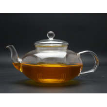 1000ml Hand Made Green&Flower Teapot with Steel Lid and Infuser