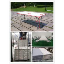 6ft China-preiswerter Plastikfaltender Speisetisch und 8 Stühle, Gartentisch, beweglicher Tabellen, faltende Möbel-Tabelle