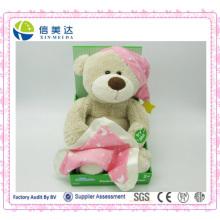 Boneca de pelúcia musical Bonito urso de pelúcia eletrônico brinquedo de pelúcia