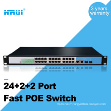 Le support d'AP d'IPC / VOIP / Wireless d'OEM a monté des commutateurs de poe de 10 / 100M 48v 24 ports