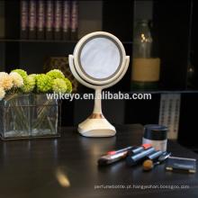 2017 novos produtos quentes bluetooth speaker music mirror espelho de maquiagem LED com luz led 5X ampliação espelho de maquilhagem