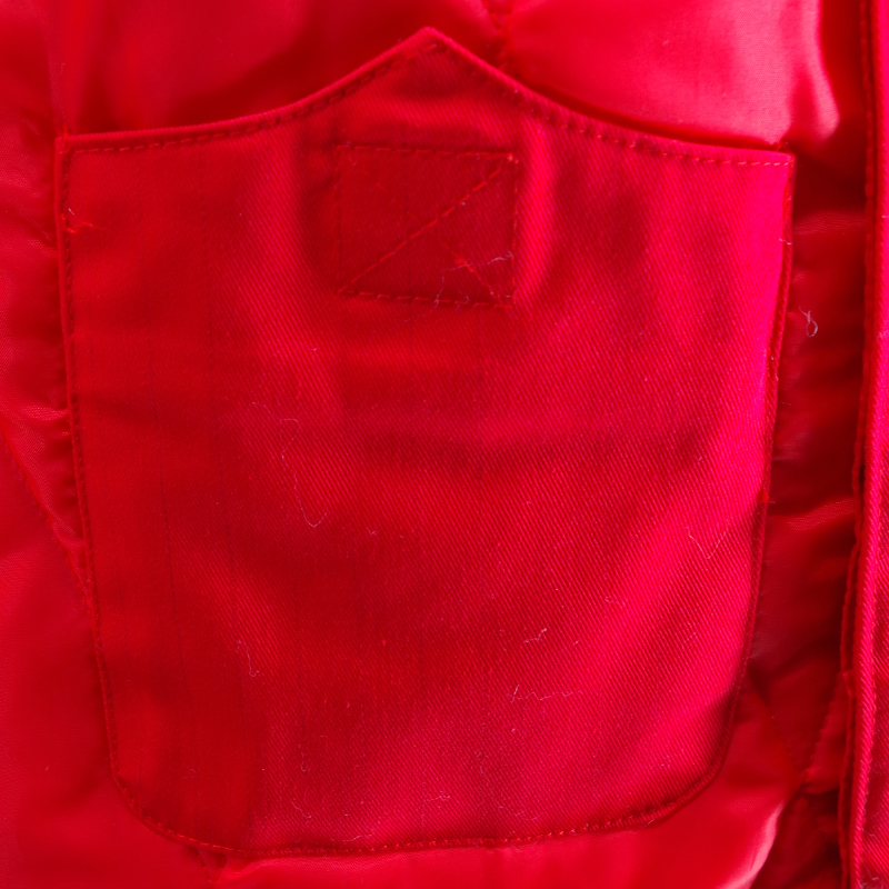 Dua Lapisan Coat Red Padded