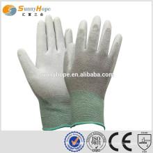 Pu gants revêtus antistatique PU trempé gants de travail