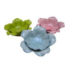 Plato de cerámica de loto