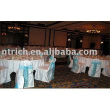 Tampas da cadeira do cetim, tampas da cadeira do banquete/hotel/casamento