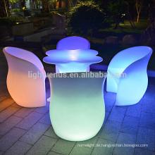 APP-Control-System führte Tisch Farbwechsel aufladbare led Outdoor-Gartenmöbel