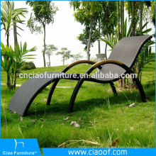 New Product Swimming Pool Side Rattan Furniture Sun Lounger