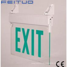 Salida de señal, luz de emergencia, señal de salida de emergencia LED, muestra del LED