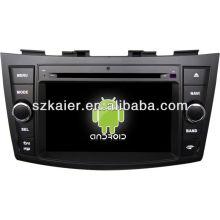 Reprodutor de DVD do carro do sistema de Android para Suzuki Swift com GPS, Bluetooth, 3G, iPod, jogos, zona dupla, controle de volante