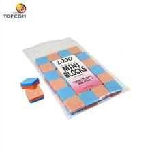 Sponge Board Foam nail file Mini Blocks 1 Inch 24 pcs Orange Blue shinning mini nail buffer block