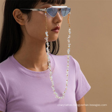 European and American Fashion Jewellery Hip-Hop Ins Irregular Stone Chain Hanging Neck Rope Sunglasses Sunglasses Chain Glasses Chain for Women2021