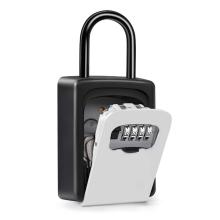 Eastommy NOVA caixa de bloqueio de armazenamento de chave, caixa de bloqueio de chave externa, caixa de metal com fechadura