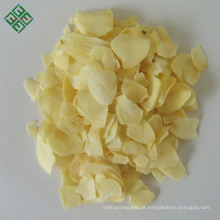 Flocos de fatia de alho seco desidratado branco chinês