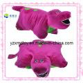 Weiches rotes Flusspferd Kundenspezifisches Plüsch-Kissen