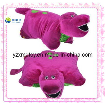 Soft Red Hippo Custom Plush Pillow