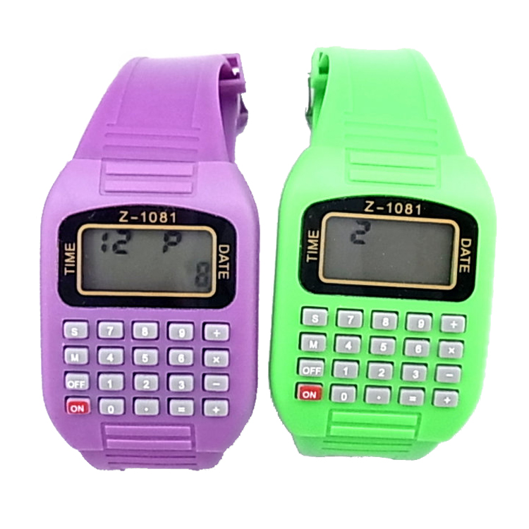 New Designer Fashion Children Calculator Watches