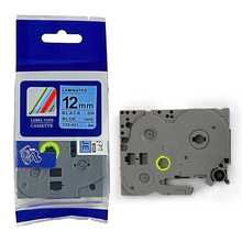 for Brother Black on blue 12mm P-touch label tape TZ-531